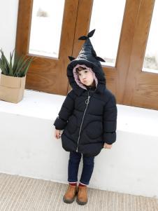 淘淘猫冬季新款黑色羽绒服