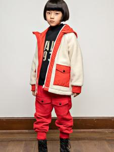 AKCLUBKIDS童装白红拼接外套
