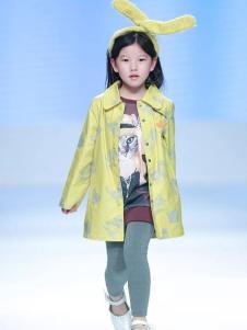 创孩儿童装黄色印花外套