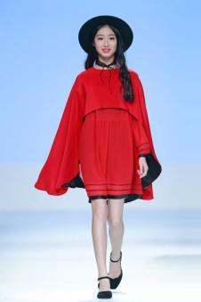 创孩儿童装红色时尚女裙
