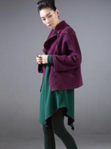 对话框女装紫色休闲外套