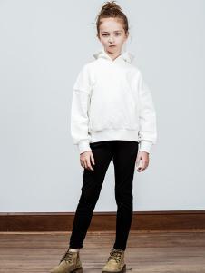 AKCLUBKIDS童装白色时尚卫衣