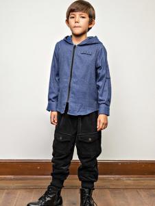 AKCLUBKIDS童装蓝色时尚外套
