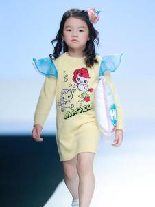 创孩儿童装黄色卡通女裙