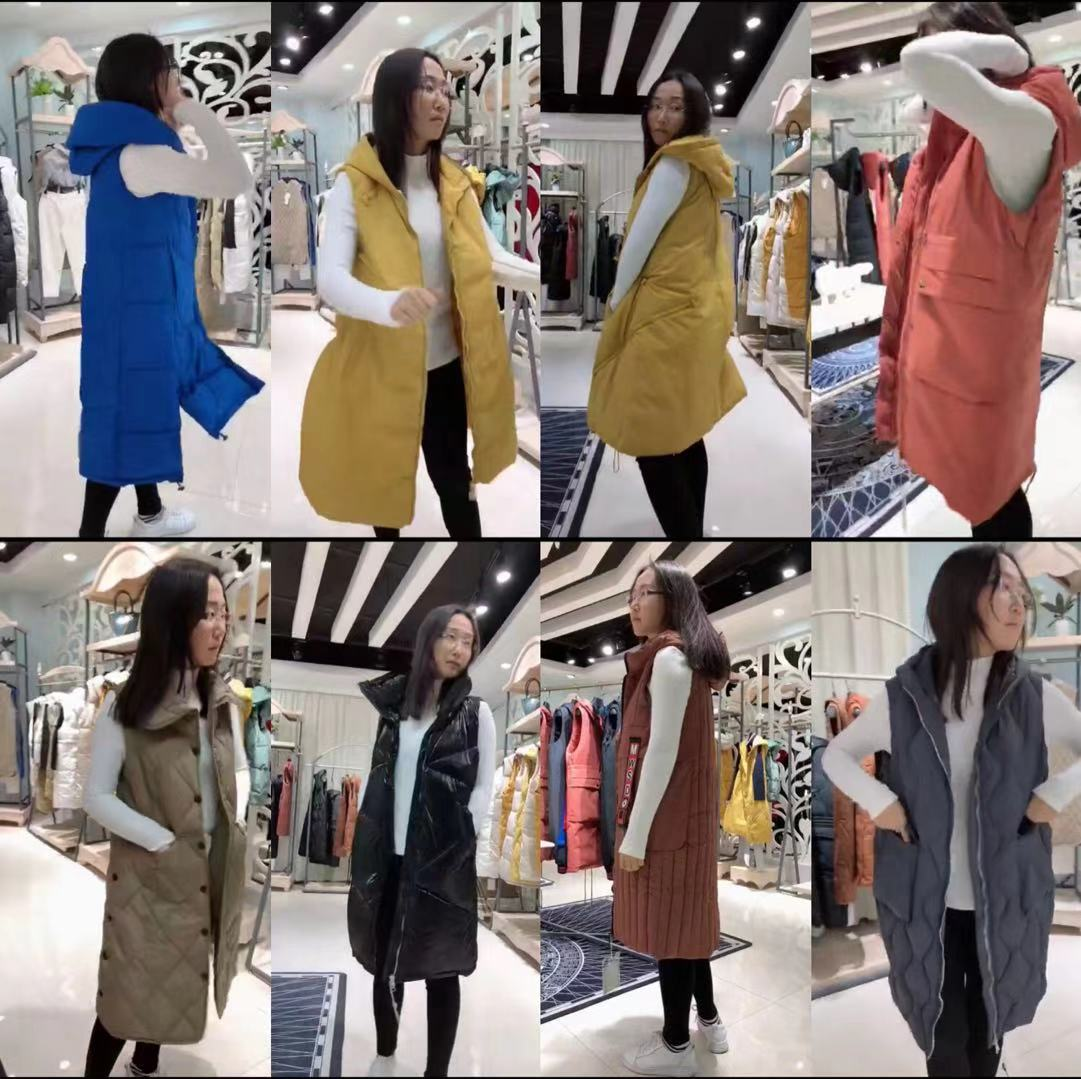 时尚潮流女式纯色马甲