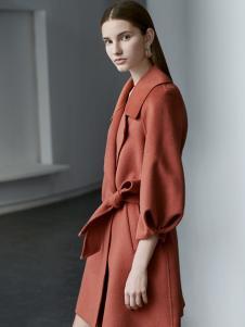 奥伦提女装oritick奥伦提2018双面呢大衣