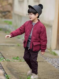 琦瑞德泽紫红色时尚棉衣