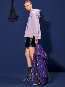 2018丽芮女装紫色卫衣