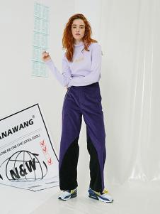 NANAWANG女裝淺紫色時尚T恤