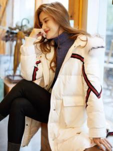 红雨鸶秋冬新款白色羽绒服
