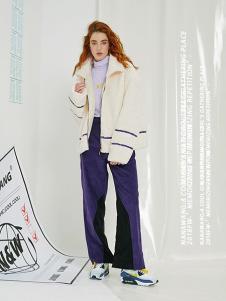 NANAWANG女裝米白色休閑外套
