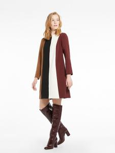 MARELLA女装三色拼接连衣裙
