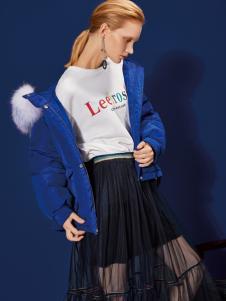 2018丽芮女装短款摩登羽绒服