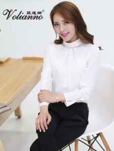 葳莲娜女装白色休闲T恤