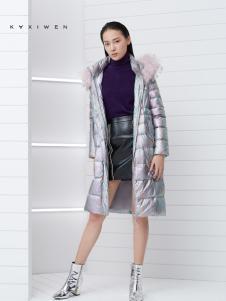 2018佧茜文女装长款羽绒服