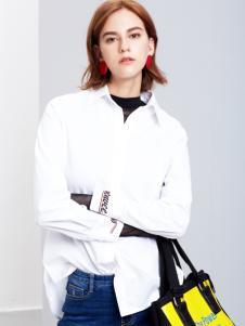 2018樊羽女装白色衬衫
