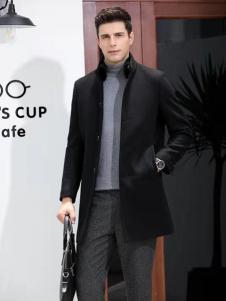 凯帝龙驰男装黑色商务外套