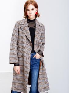 2018樊羽女装灰色韩版大衣