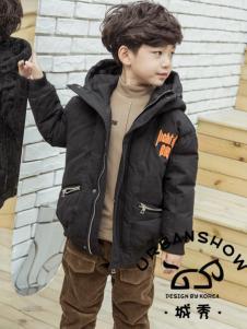 2018城秀男童黑色羽绒服