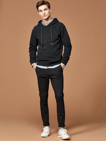 2018杉杉男装黑色卫衣