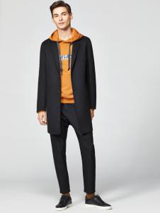 2018杉杉男装黑色大衣