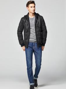 2018杉杉男装黑色夹克