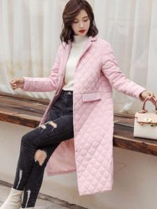 2018搜美女装粉色羽绒服