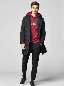 2018杉杉男装黑色新款羽绒服