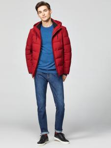 2018杉杉男装红色羽绒服