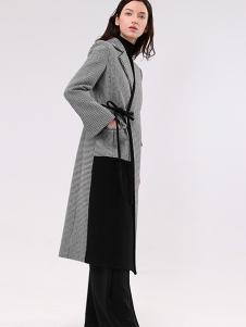 昧宴女装灰色时尚不规则外套