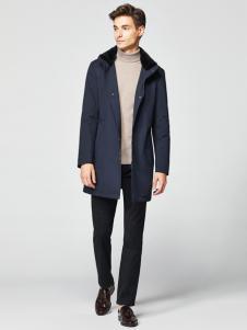 2018杉杉男裝藍色風衣