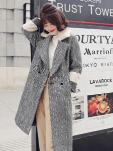 2018搜美女装韩版灰色大衣
