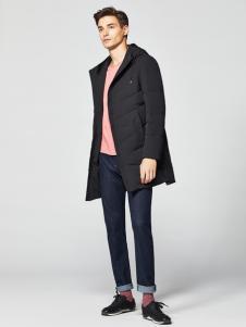 2018杉杉男装黑色羽绒服