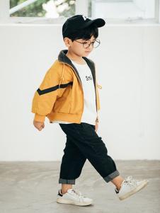 布兰卡童装黄色休闲外套