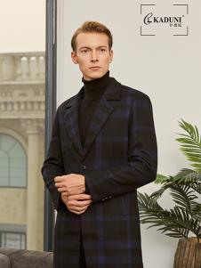 2018卡度尼秋冬新款格纹西服外套