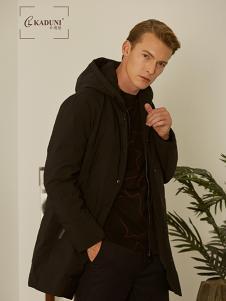 2018卡度尼男装黑色羽绒服