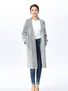 娜么美女装灰色长款外套