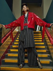 诱货女装红色时尚夹克