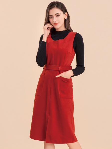 淑女日记红色连衣裙