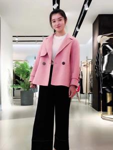 悠曼琦女装粉色休闲外套