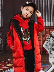 NIESSING尼辛秋冬新款红色羽绒服中长款