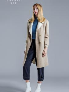 2018安卡茜女装米色大衣
