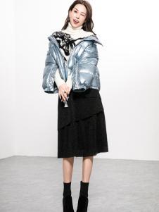Ms.Leyna女装2018短款羽绒服