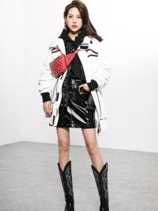 Ms.Leyna女装2018白色羽绒服