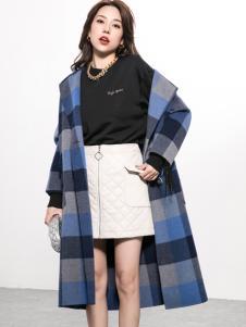 Ms.Leyna女装2018格纹大衣