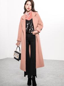 Ms.Leyna女装2018中长款大衣