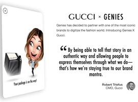 虚拟形象服务商Genies将奢侈品类独家经营权授予Gucci(图)
