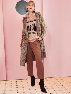 2018西蔻女装格纹外套