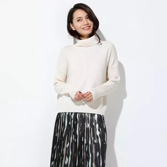 【玳莎独丽女人】毛衫领子高一点 冬天气质多一点
