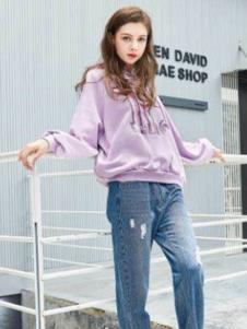 纳古女装浅紫色休闲外套